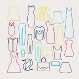Clothes icon vector set, Stock Photos