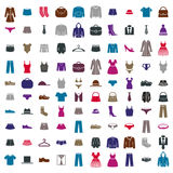 Clothes icon vector set, vector collection Stock Images