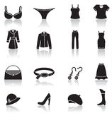 Clothes icons Royalty Free Stock Image