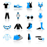Clothes icons Royalty Free Stock Photography