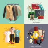 Clothes Icons Flat Royalty Free Stock Image