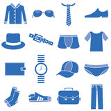 Clothes icons man Royalty Free Stock Images