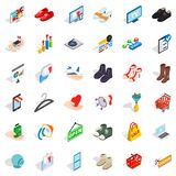 Clothes icons set, isometric style Royalty Free Stock Photos