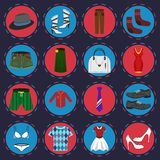 Clothes icons set Royalty Free Stock Images