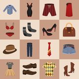 Clothes icons set Royalty Free Stock Image