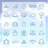25 clothes icons set Royalty Free Stock Images