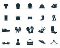 Clothes icons set. Premium quality symbol collection. Clothes icon set simple elements. stock illustration