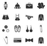 Clothes Icons set Royalty Free Stock Photo