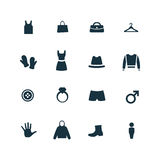 Clothes icons set Stock Images