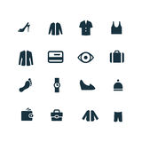 Clothes icons set Stock Photo