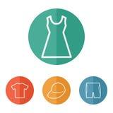 Clothes icons Stock Photos