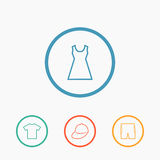 Clothes icons Stock Photography