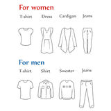 Clothes icons Royalty Free Stock Images