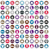 Clothes icons vector collection, vector icon set Stock Images