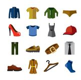 Clothes  icons Royalty Free Stock Photos