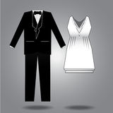 Clothes illustration for both sexes Royalty Free Stock Image
