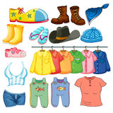 Clothes. Illustration of different design of lothes Stock Photo