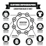Clothes infographic concept, simple style Royalty Free Stock Images