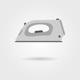Clothes iron icon with shadow. Isolated on grey stylish background. modern vector illustration Royalty Free Stock Photos