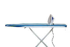 Clothes Iron and Ironing Board Stock Image
