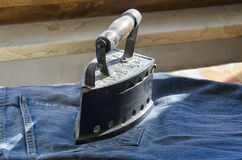 Clothes iron of the 1800s Royalty Free Stock Photos