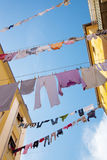 Clothes in italian town. Royalty Free Stock Photo