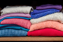 Clothes from knitted knitwear Royalty Free Stock Image
