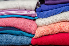 Clothes from knitted knitwear Royalty Free Stock Photography
