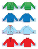 Clothes for l girl and boys Royalty Free Stock Images