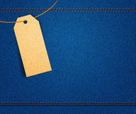 Clothes Label on Jeans Royalty Free Stock Photography