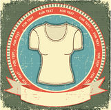 Clothes Label Set On Vintage Royalty Free Stock Image