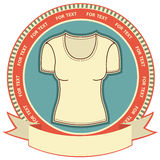 Clothes label set on white. Stock Photography