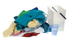 Clothes for the laundry Stock Photos