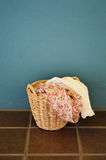 Clothes in laundry basket Stock Photography