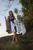 Clothes line Stock Photo
