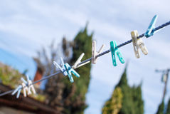 Clothes Line Stock Image