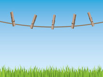 Clothes line background Royalty Free Stock Photography