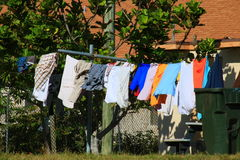 Clothes Line. Delray beach Florida palm beach Stock Photos