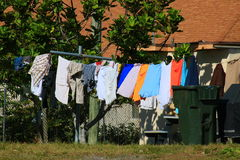 Clothes Line. Delray beach Florida palm beach Stock Photo