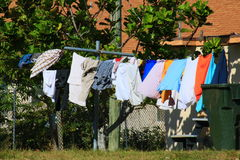 Clothes Line. Delray beach Florida palm beach Royalty Free Stock Image