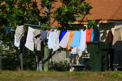 Clothes Line. Delray beach Florida palm beach Stock Photography