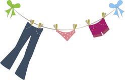 Clothes Line Stock Photo