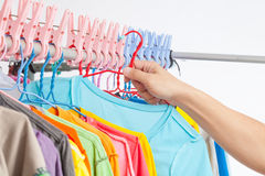 Clothes line Royalty Free Stock Photos