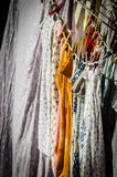 Clothes Line. Photograph of clothes hanging out to dry stock photos