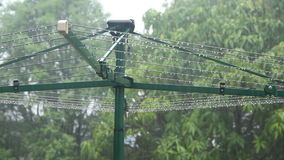 Clothes line In Rain 1 Royalty Free Stock Photos