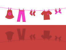 Clothes Line Represents Laundry Laundered And Outfit Royalty Free Stock Images