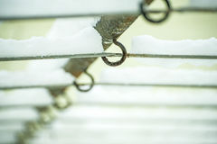 Clothes line in snow Stock Image