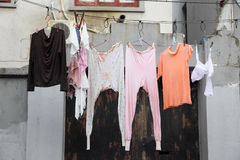 Clothes line Royalty Free Stock Images
