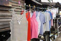 Clothes line Royalty Free Stock Photos
