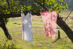 Clothes lines Stock Photo